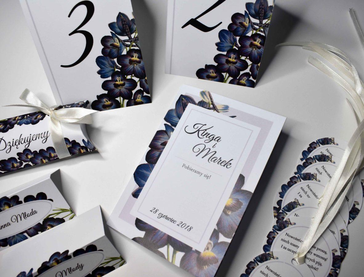 kolekcja ślubna z orchidea
