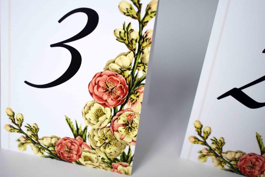 numer stołu ślubnego
