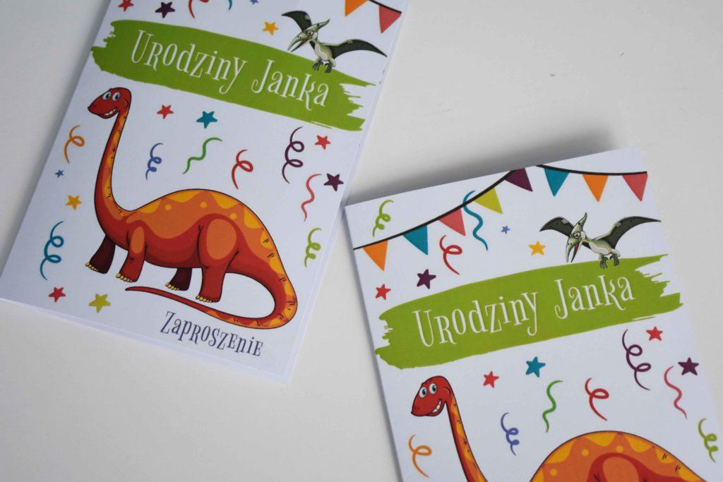 Zaproszenie na urodziny motyw dinozaurów