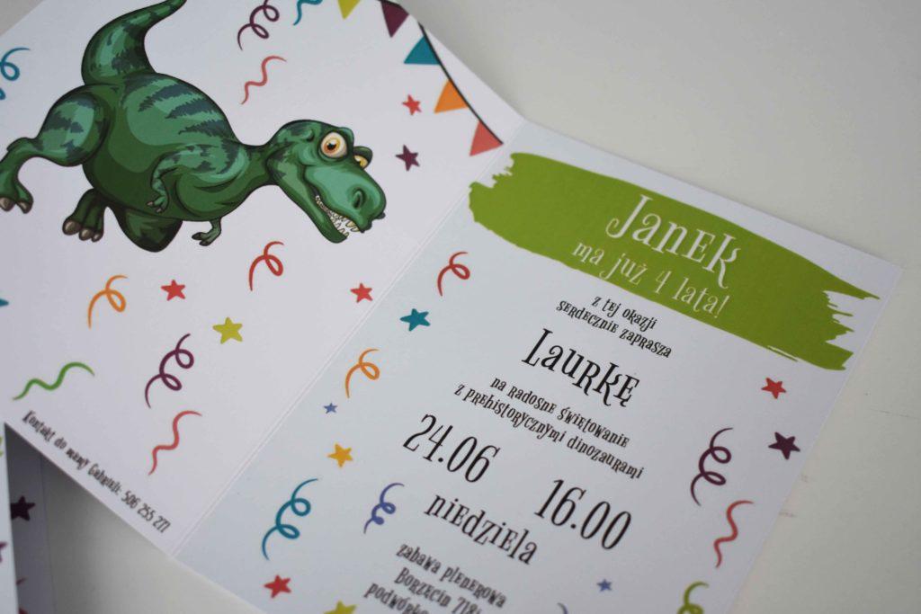 Zaproszenie na urodziny z dinozaurami tekst