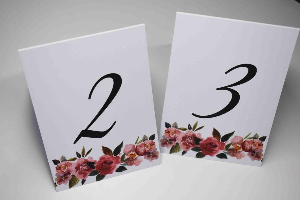 numery stołów weselnych