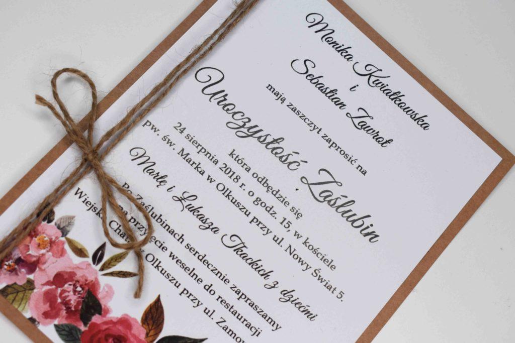 zaproszenie ślubne eko
