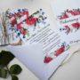 Zaproszenie jednokartkowe Piwonie i kwiaty polne