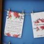 Zaproszenie ślubne Piwonie i polne kwiaty