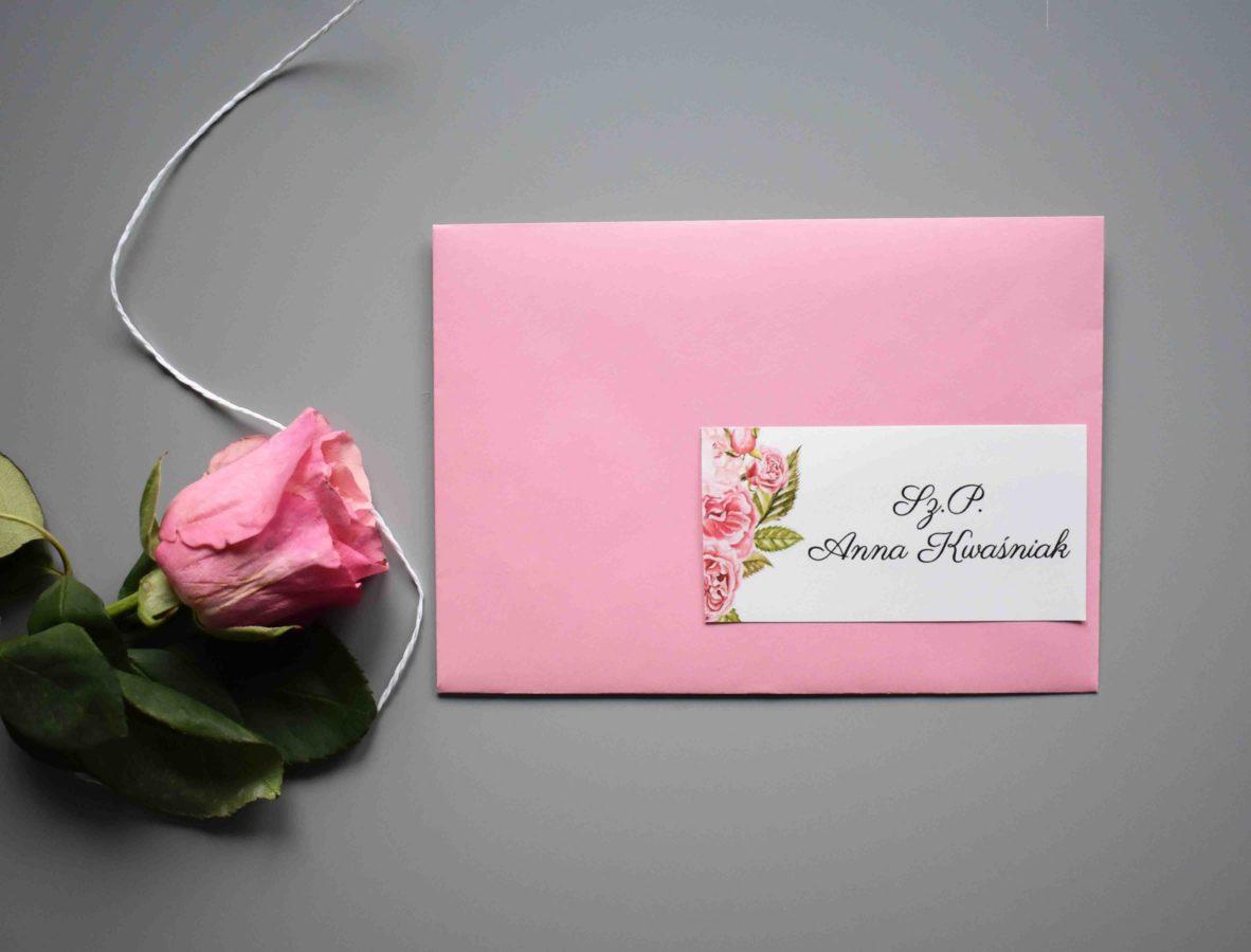 Naklejka z adresem na kopertę