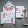 Zaproszenie otwierane na ślub Ślubne róże