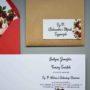Naklejka na kopertę z adresem Róże w bordo