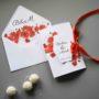 Otwierane zaproszenie ślubne Maki