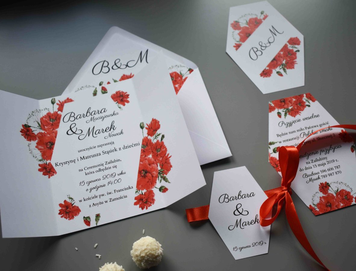 Zaproszenie na ślub Maki