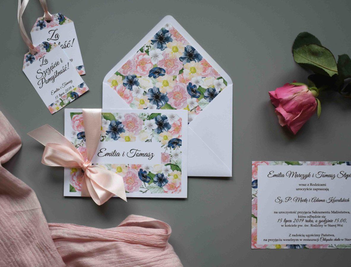 Kolekcja ślubna Kwiecisty wzór