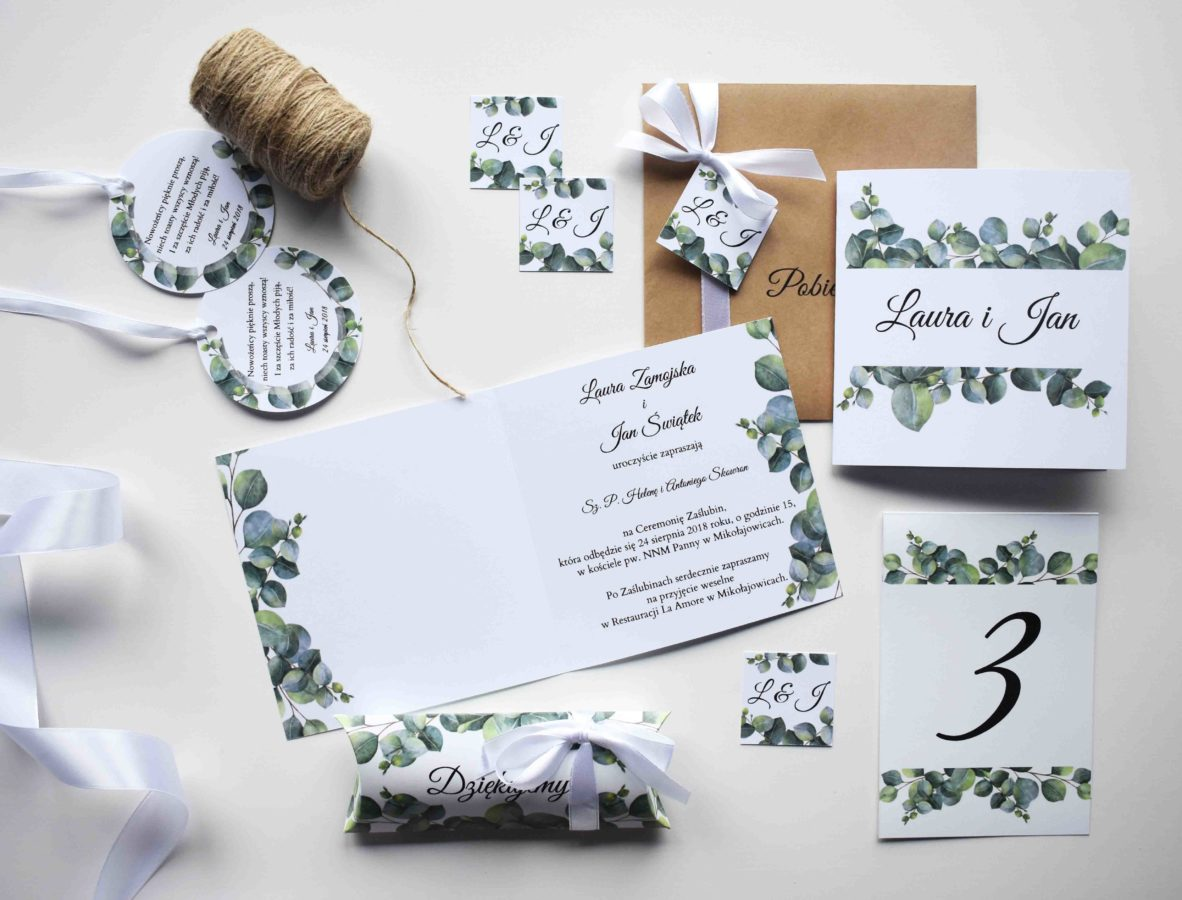 Kolekcja ślubna Gałązka eukaliptusa