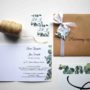 Zaproszenie ślubne z motywem eukaliptusa