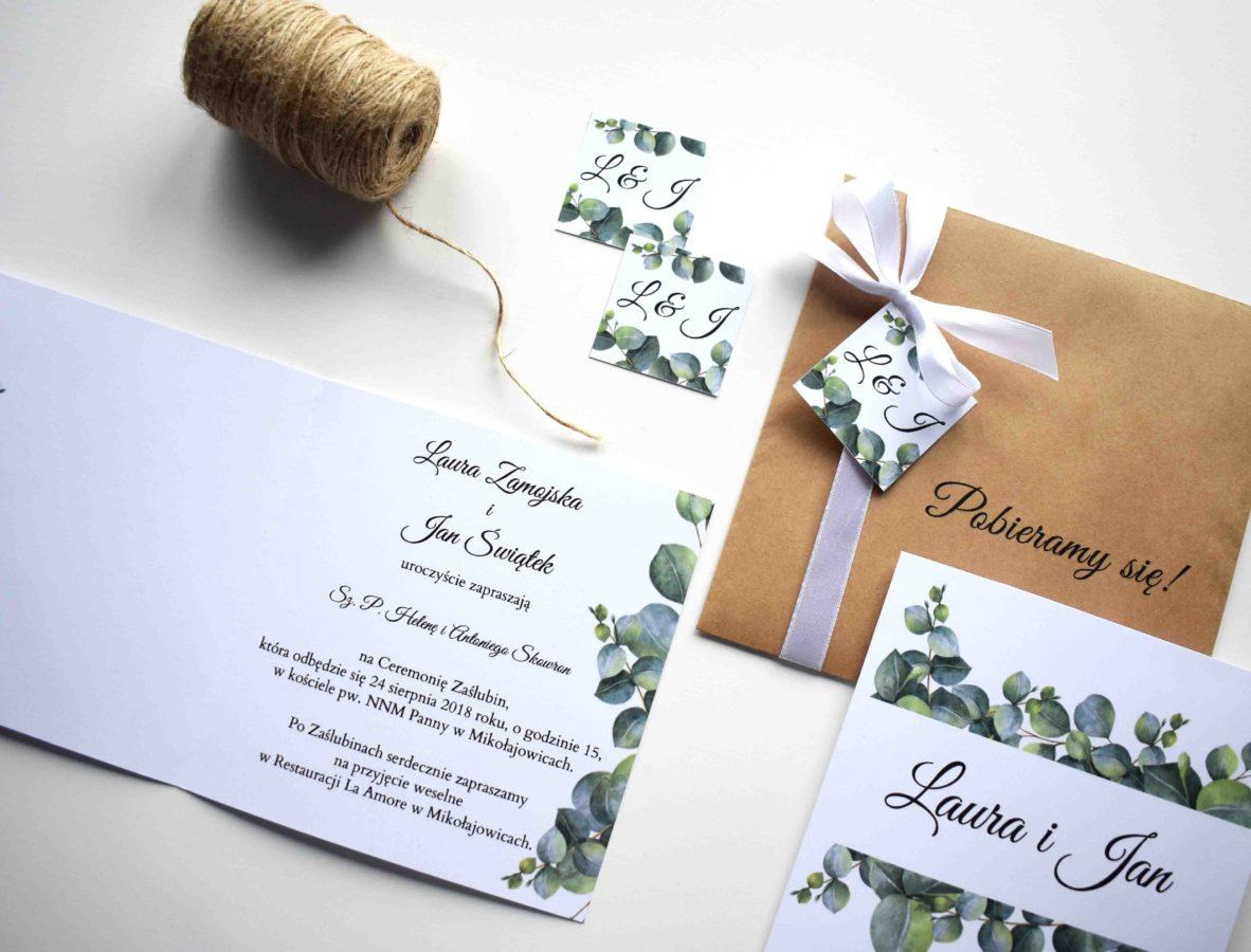 Kolekcja ślubna Eukaliptus