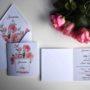 Zaproszenie na ślub W różanym duecie