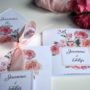 Zaproszenie na ślub w odcieniach różu