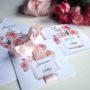 Zaproszenie ślubne w motywie róż