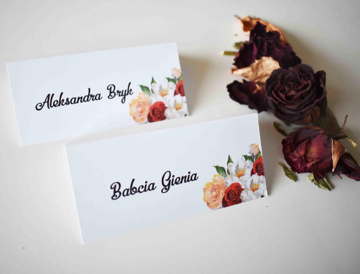 Winietki ślubne Różane