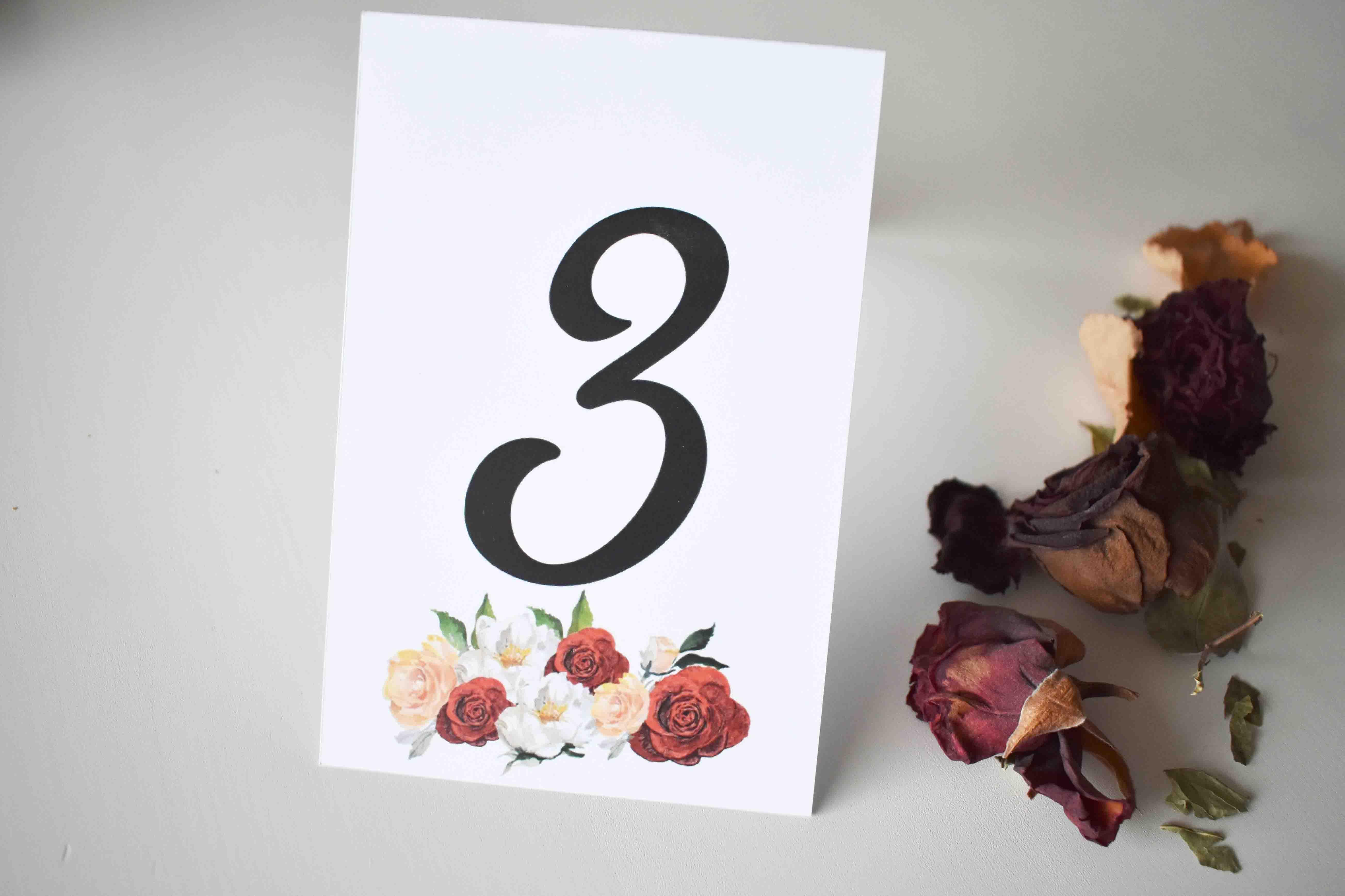 numer na stół weselny