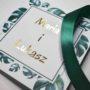 Złocone zaproszenie ślubne