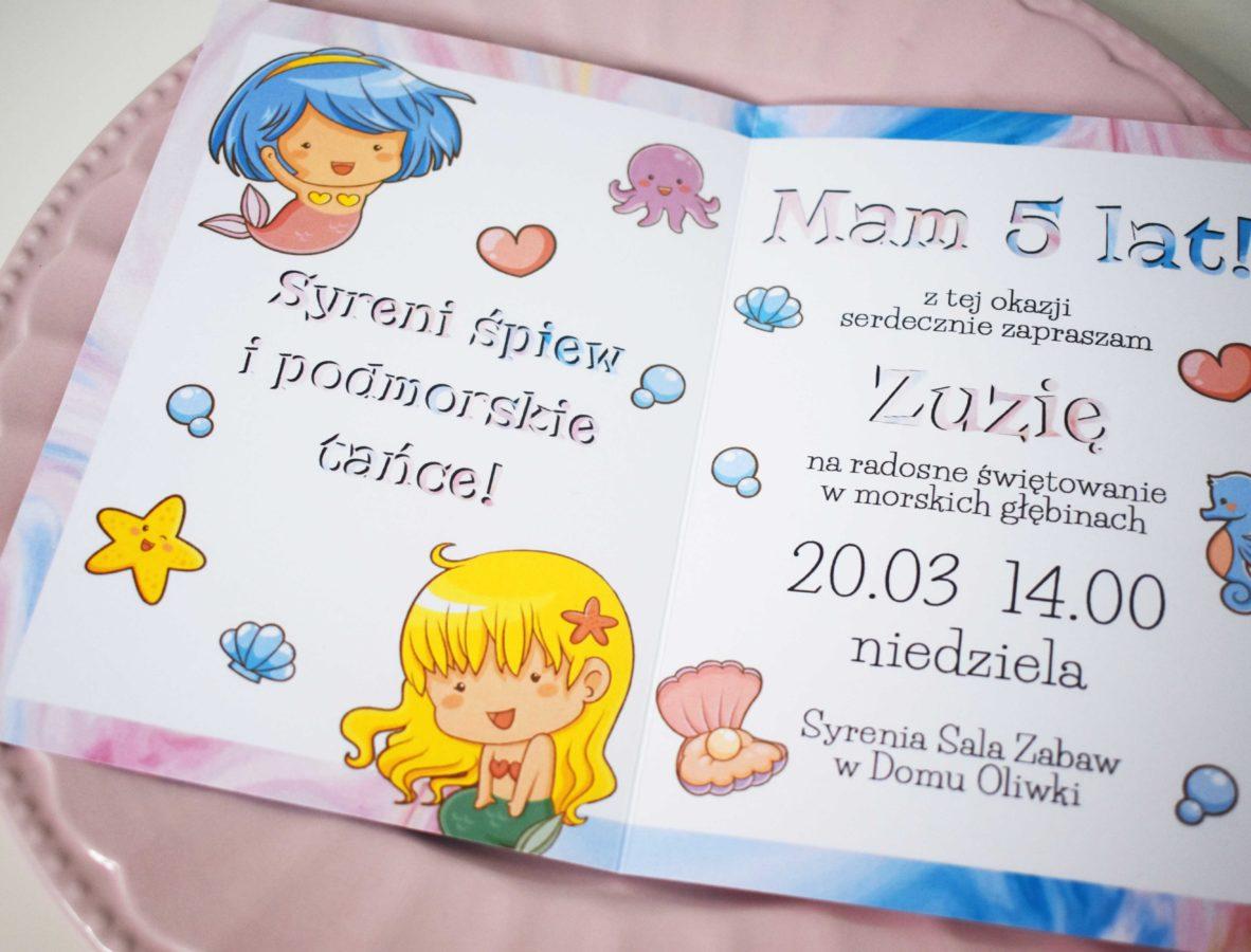Zaproszenie na urodziny Syrenki