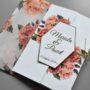 Zaproszenie ślubne Czerwień róż z kopertą