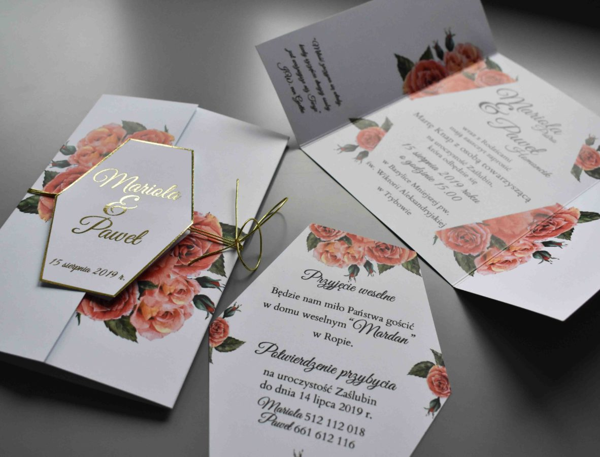 Kolekcja ślubna Czerwień róż