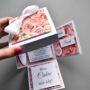 Pudełęczko exploding box – zaproszenie dla świadków