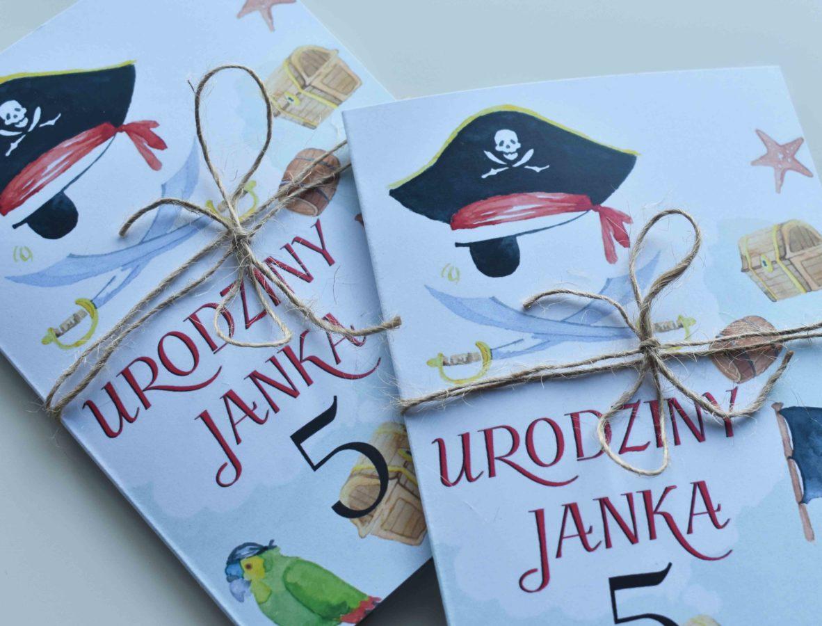 Zaproszenie na urodziny Piraci