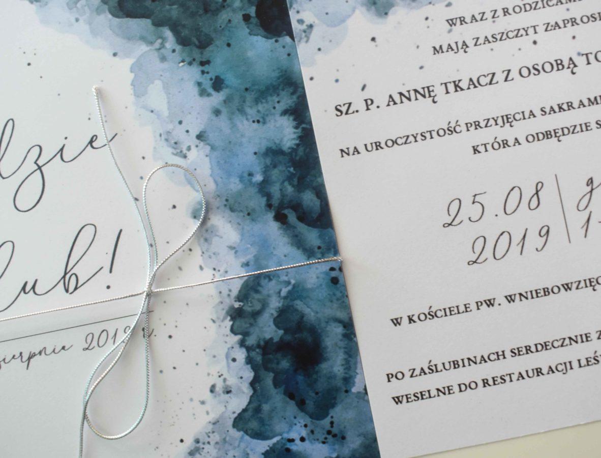 Zaproszenie na ślub morskie
