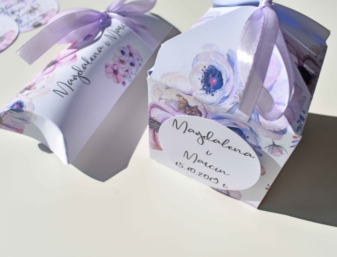Pudełeczka dla gości weselnych