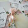 Kwiatowe zaproszenie ślubne