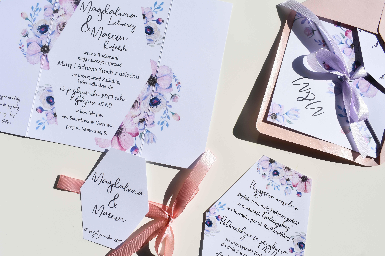 Kolekcja ślubna z anemonami