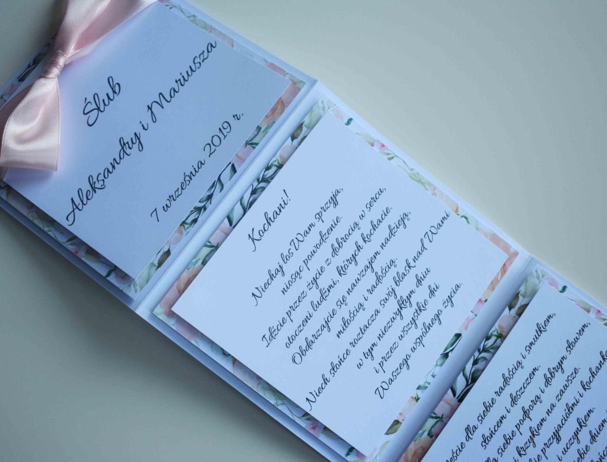 Kartka na ślub od rodziców