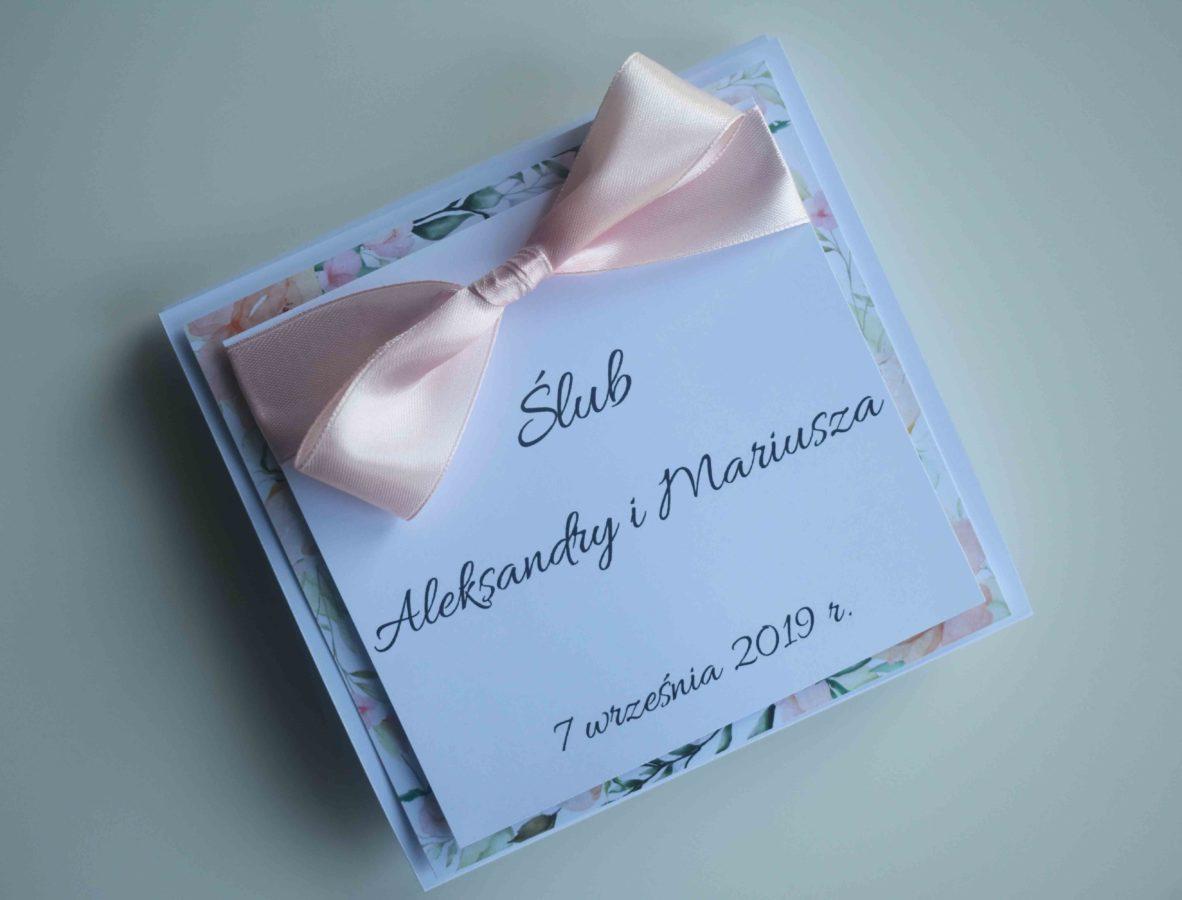 Kartka na ślub od chrzestnej