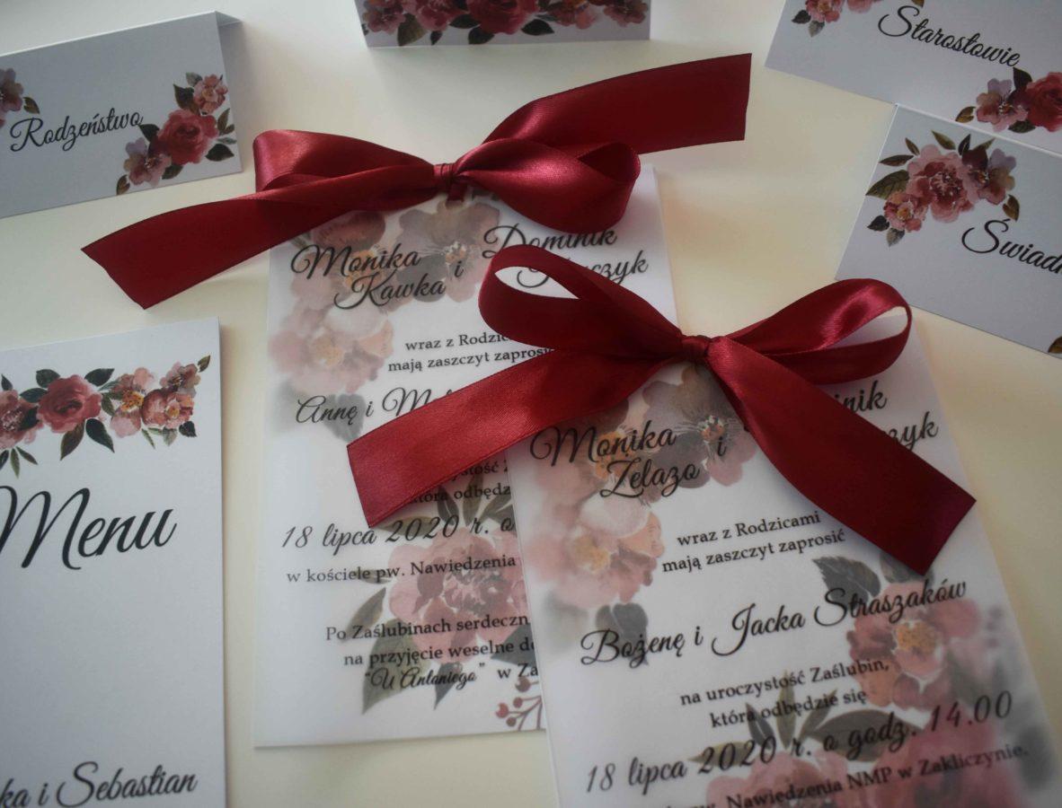Zaproszenie na ślub z kalką