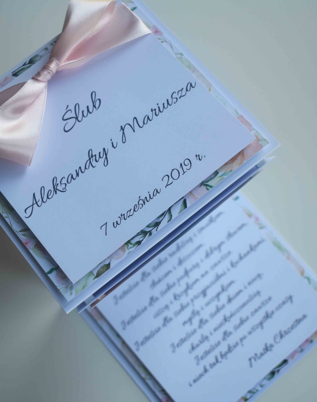 Kartka z życzeniami harmonijka