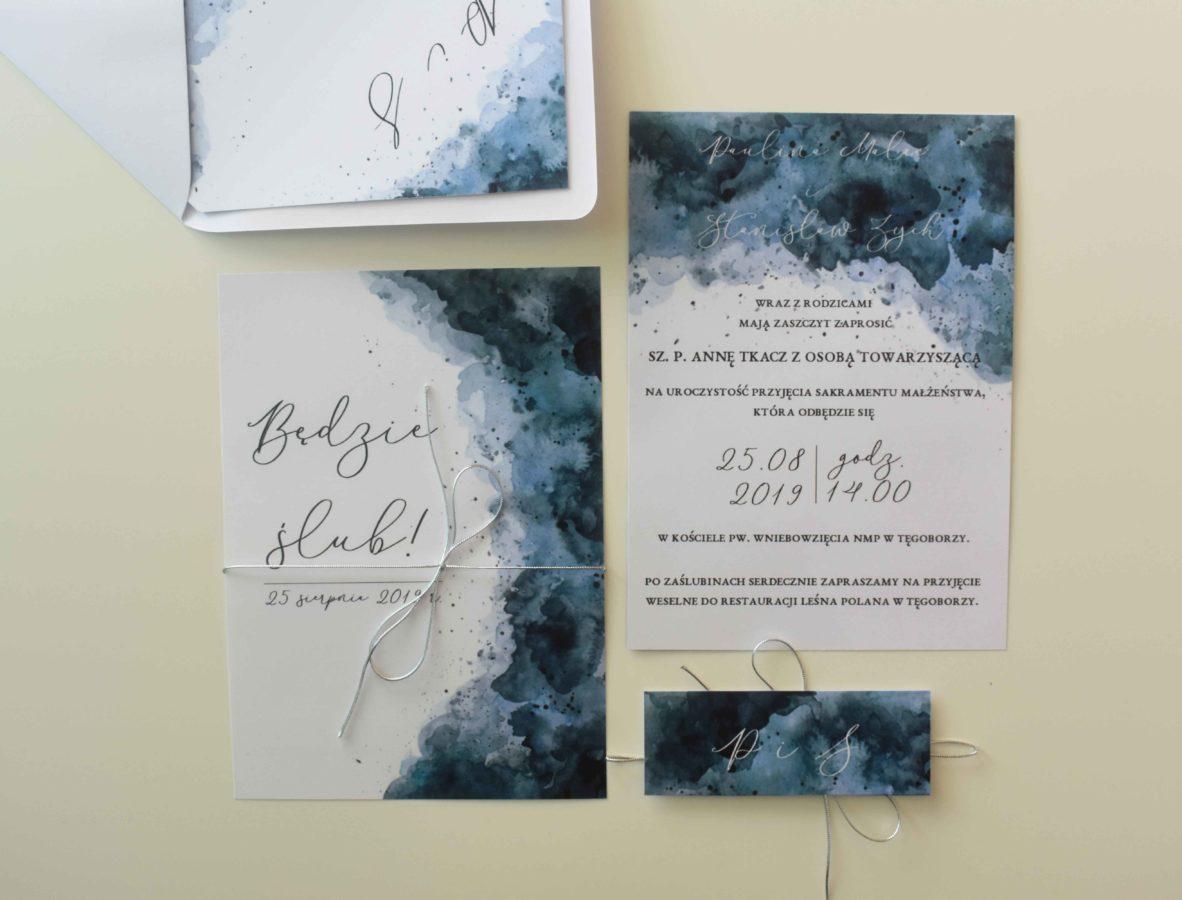 Zaproszenie ślubne morskie
