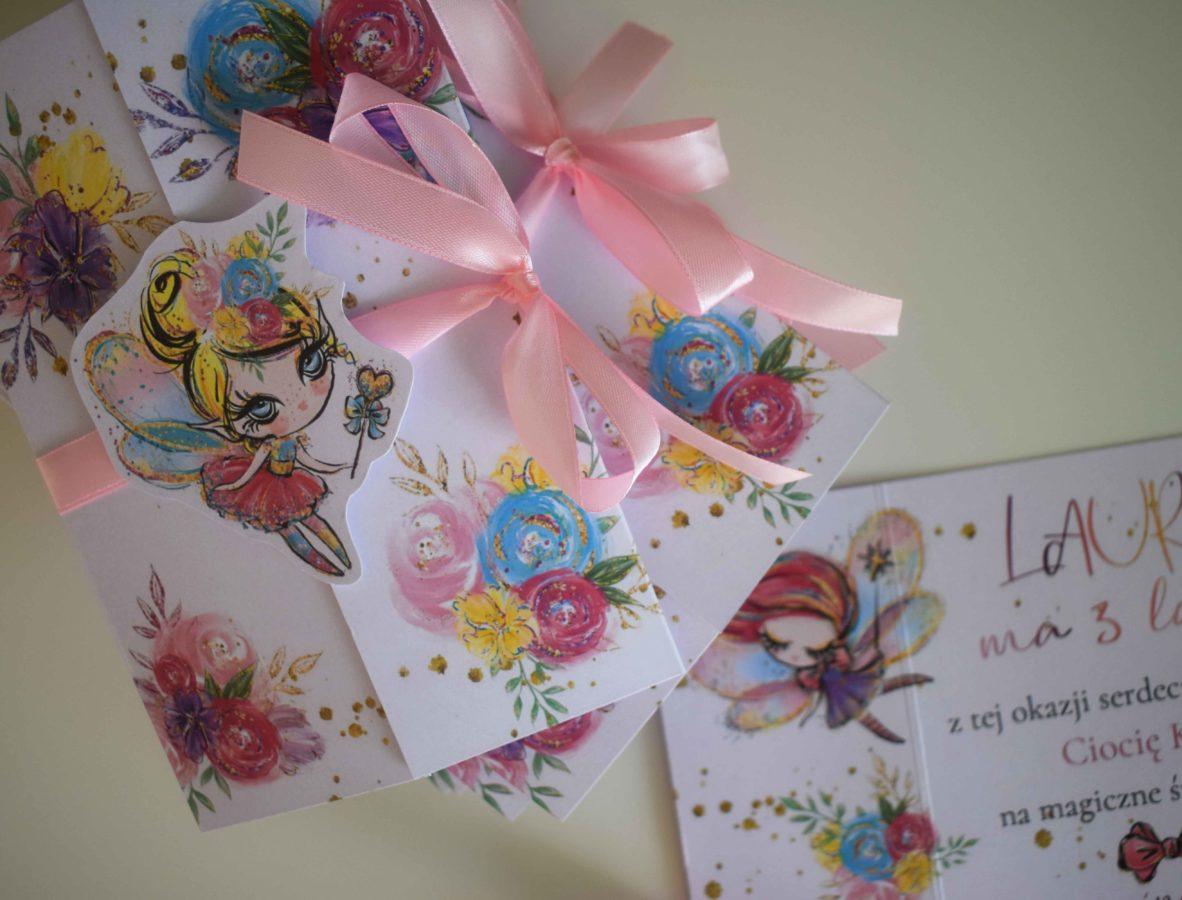 Zaproszenie na urodziny dla dziewczynki