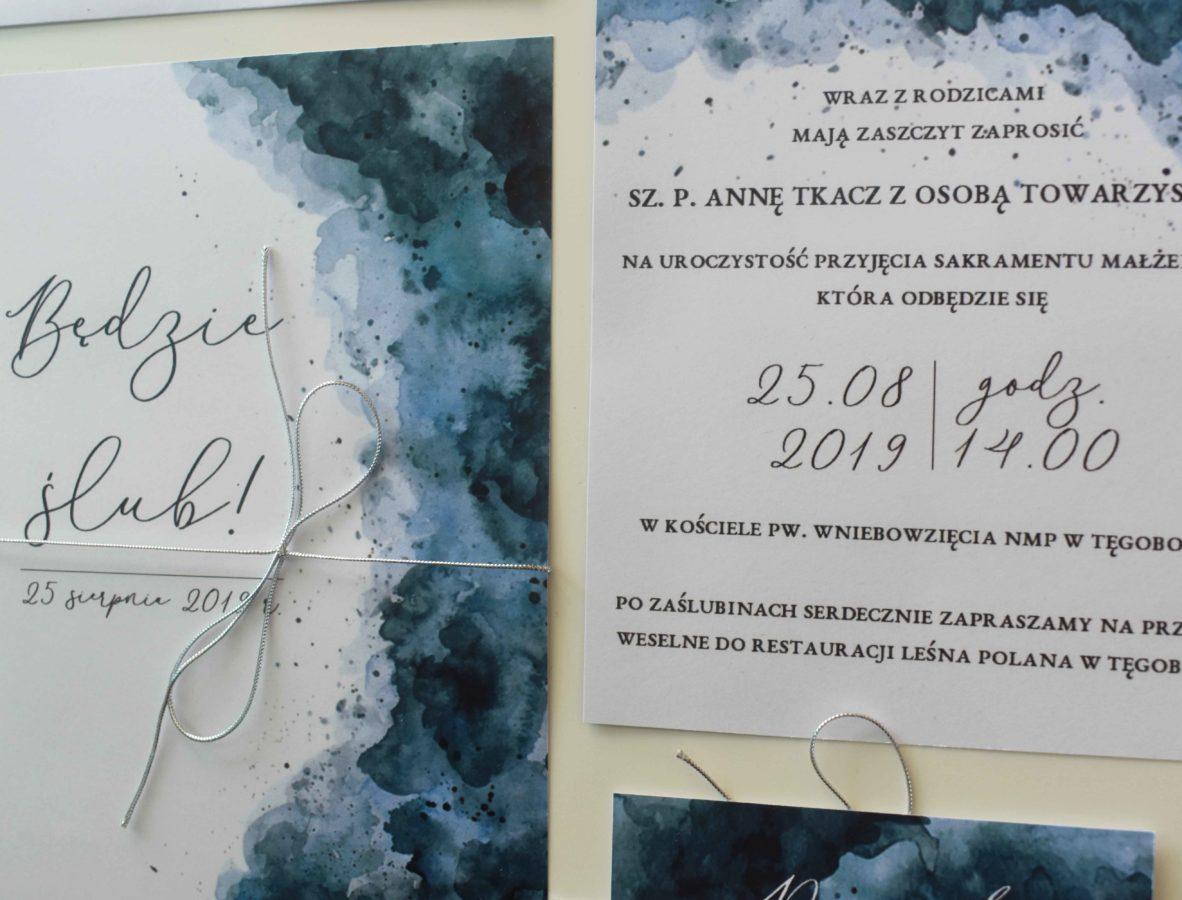 Morskie zaproszenie na ślub