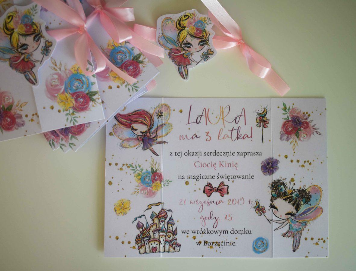 Zaproszenie urodzinowe dla dziewczynki