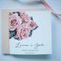 W delikatne róże zaproszenie na ślub