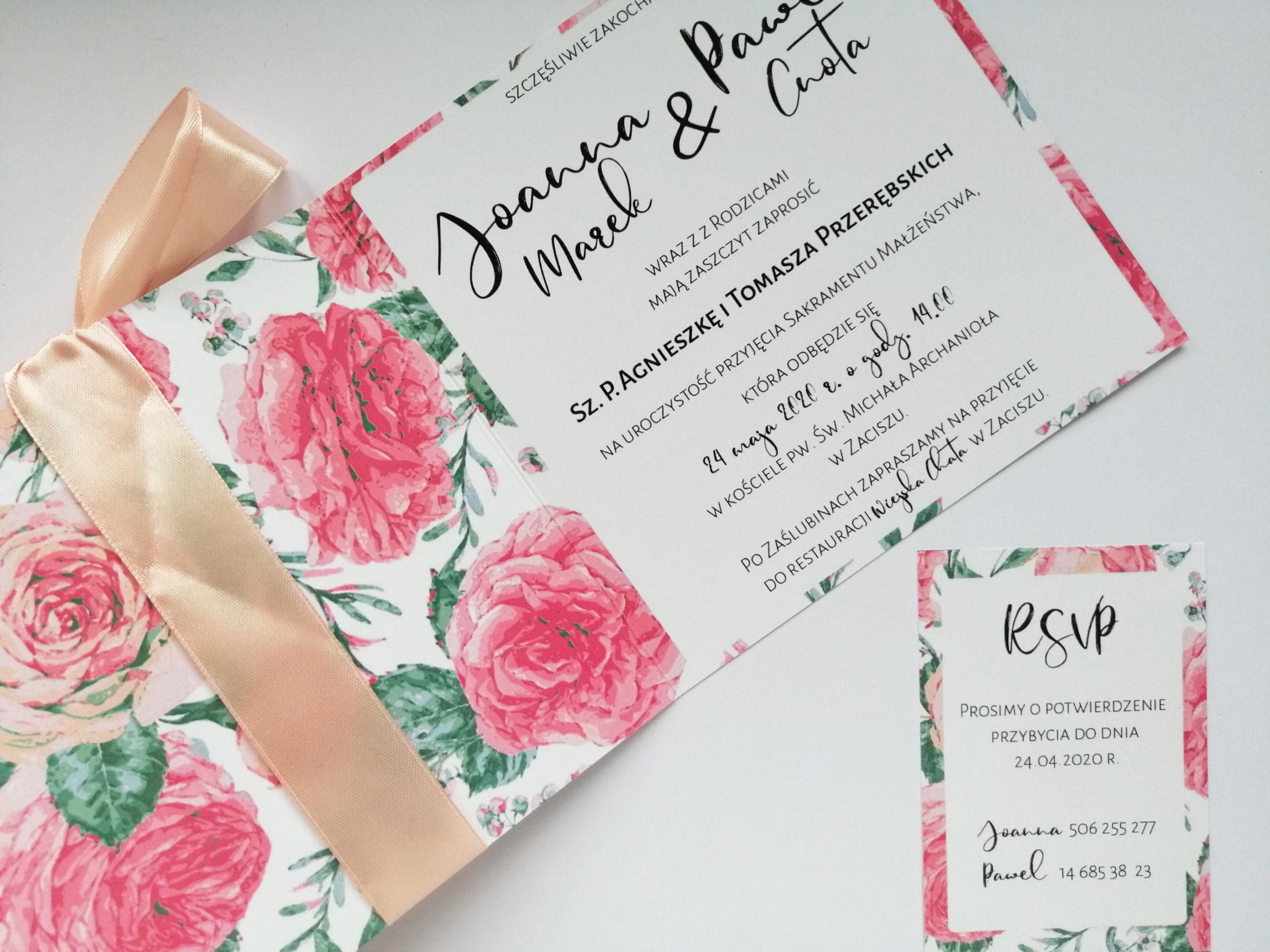 Zaproszenie Różane