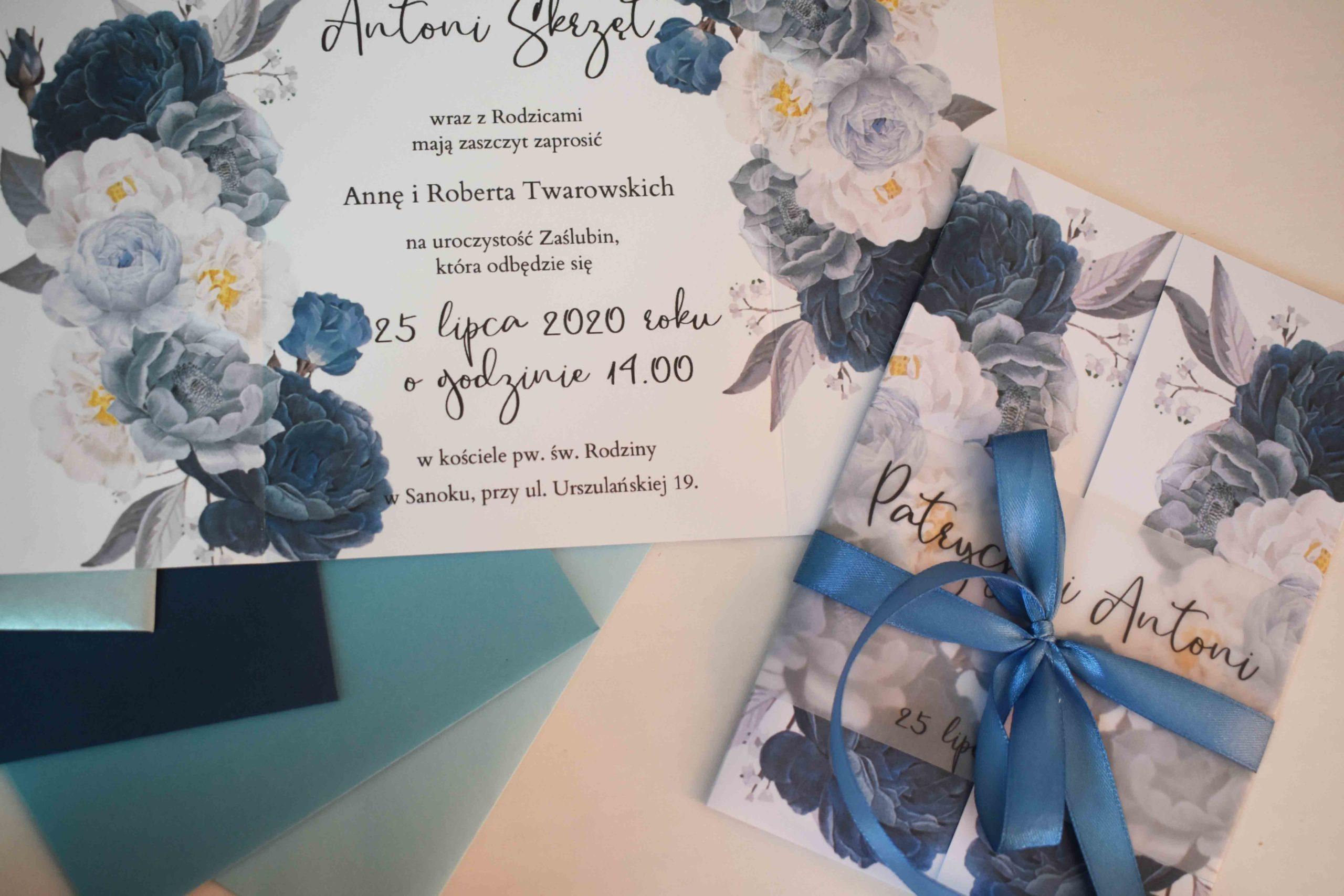 Niebieskie zaproszenie