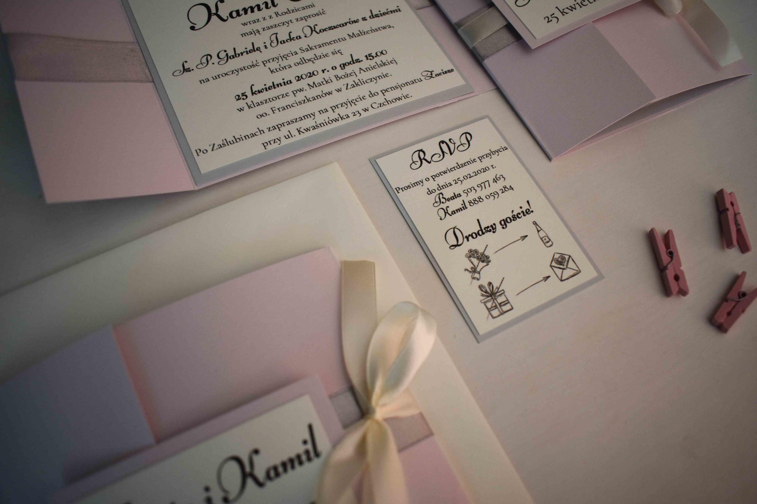 Różowe klasyczne na ślub