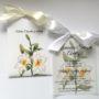 Zaproszenie na Komunię Św. lilia z kalką