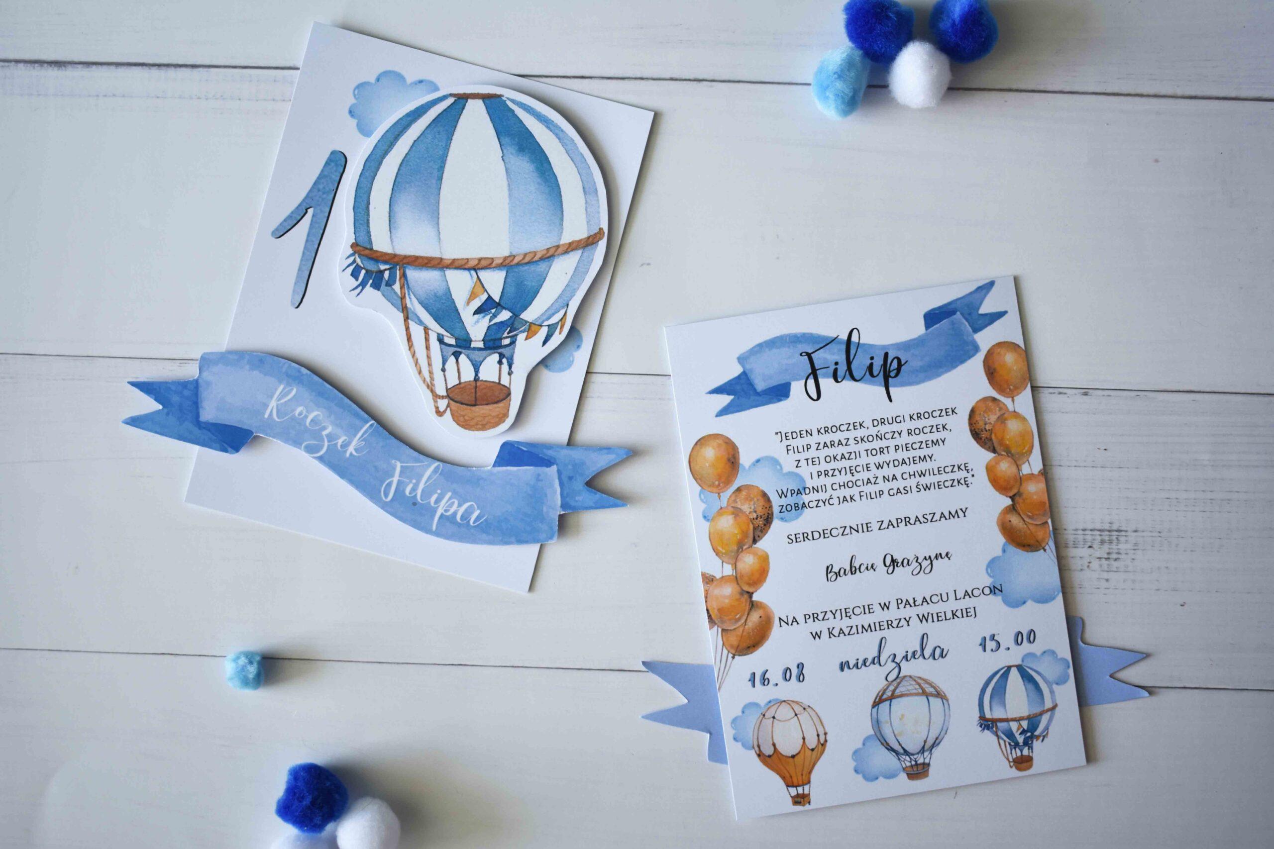 zaproszenie balonik 3