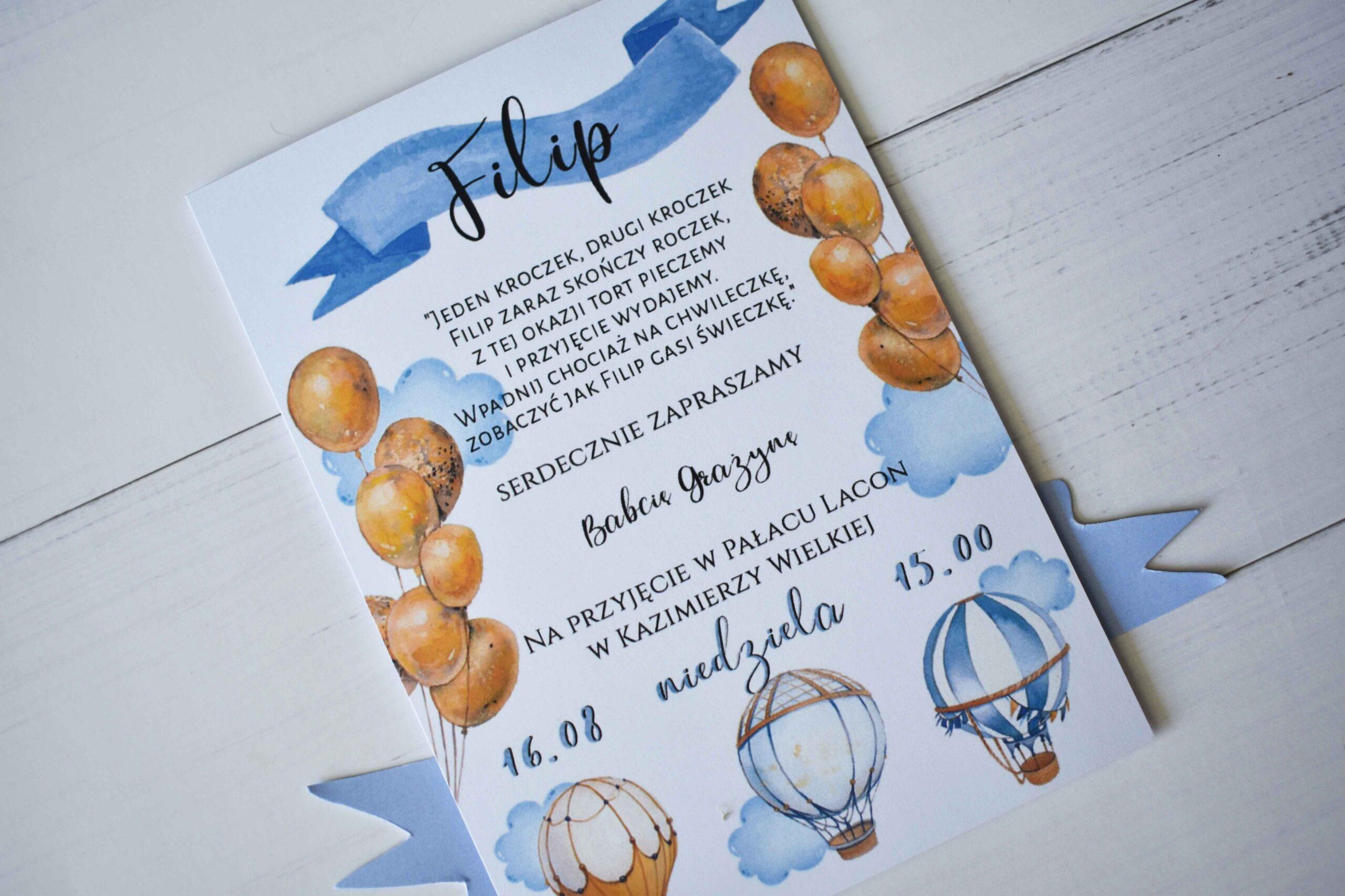 zaproszenie balonik 5